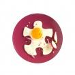 Foremki silikonowe do jajek w kształcie puzzli 2 szt. Mastrad fioletowe MA-F66005