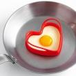 Foremki silikonowe do jajek w kształcie serca 2 szt. Mastrad czerwone MA-F66110