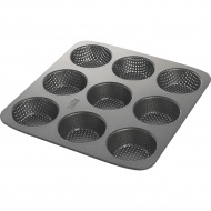 Forma do 9 kajzerek perforowana Birkmann Easy Baking czarna