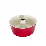 Forma do babki drożdzowej z kominem Nordic Ware czerwona