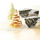 Forma do ciasta Choinka 3D Birkmann Christmas Glamour srebrna