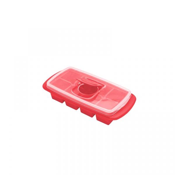 Forma na bardzo duże kostki lodu MSC International czerwona MS-29105-CZE