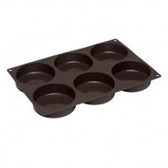 forma na bułki do hamburgerów, silikon, śred. 8,5 cm, 28,5 x 19 x 3 cm