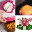 Forma na ciasto/tort Pavoni Sweet Home różowa FRT167ROS