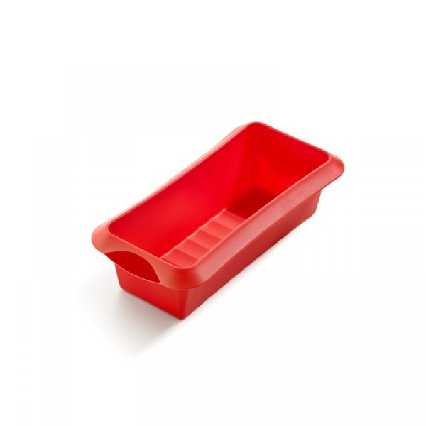 Forma prostokątna (keksówka) 24 cm Lekue Classic czerwona  1210524R01M033