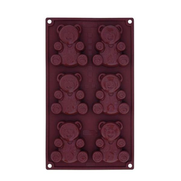 Forma w kształcie misiów 6 sztuk Teddy Pavoni brązowy FR079MRAS
