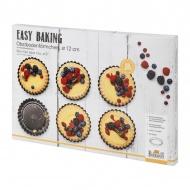 Formy do tartaletek 12 cm 6 szt Birkmann Easy Baking różowe