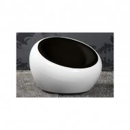 Fotel 64x92x92cm D2 Tappo czarno-biały