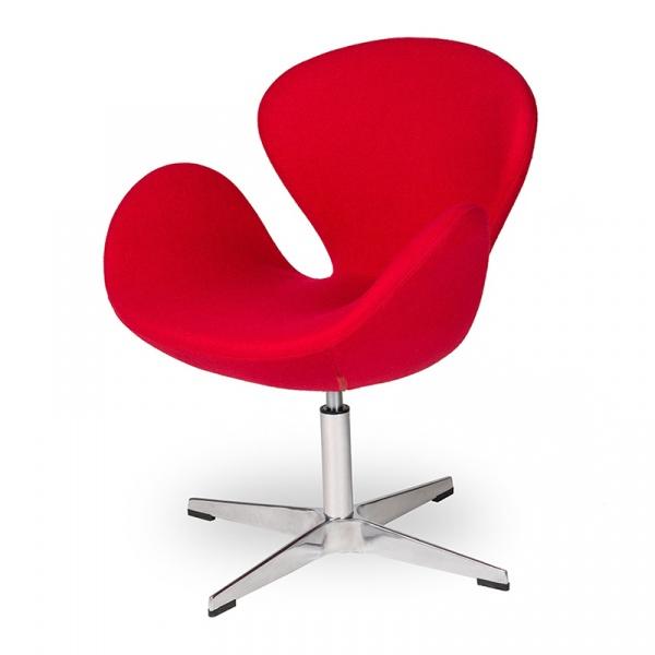 Fotel 72x61,5x83cm King Home Swan czerwony K-911D.SHO-1