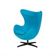 Fotel 83x107x72cm King Home Egg jasny turkus/czarny