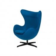 Fotel 83x107x72cm King Home Egg marynarski niebieski/czarny