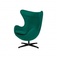 Fotel 83x107x72cm King Home Egg szmaragdowy zielony/czarny