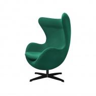 Fotel 83x107x72cm King Home Egg wełna zielony