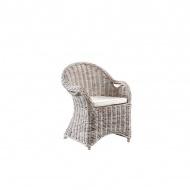 Fotel Athena z poduszką biały  64x56x88cm