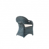 Fotel Athena z poduszką niebieski 64x56x88cm