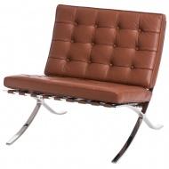 Fotel BA1 Barcelona D2.Design naturalna skóra jasny brąz