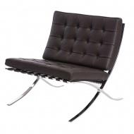 Fotel BA1 Barcelona inspirowany D2.Design skóra brązowaTP