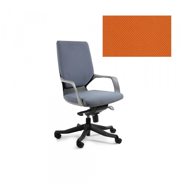 Fotel biurowy Apollo M Unique mandarin W-908B-BL405
