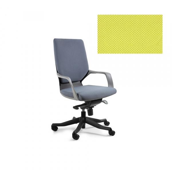 Fotel biurowy Apollo M Unique mustard W-908B-BL410