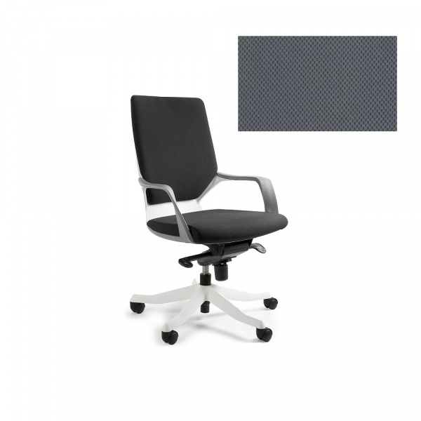 Fotel biurowy Apollo M Unique slategrey W-908W-BL417