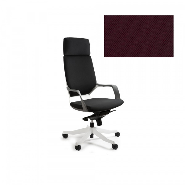 Fotel biurowy Apollo Unique burgundy W-909W-BL403
