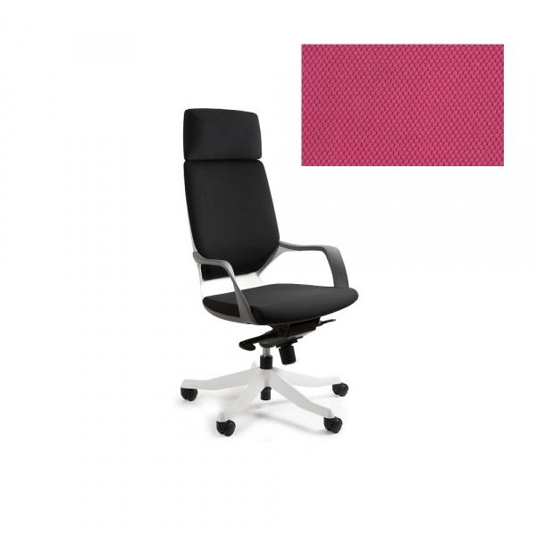 Fotel biurowy Apollo Unique magenta W-909W-BL401