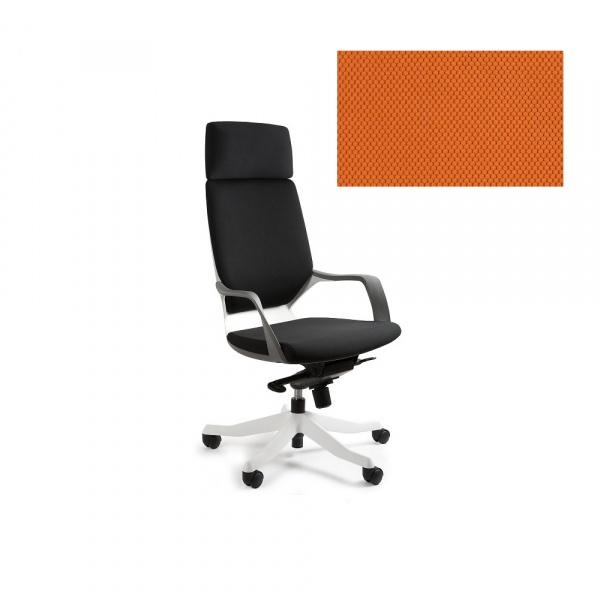 Fotel biurowy Apollo Unique mandarin W-909W-BL405
