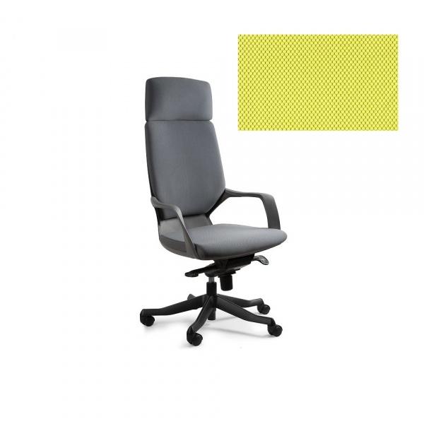 Fotel biurowy Apollo Unique mustard W-909B-BL410