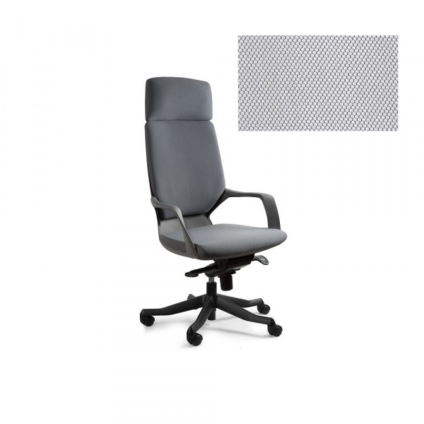 Fotel biurowy Apollo Unique snowy W-909B-BL416