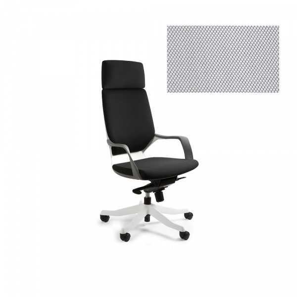 Fotel biurowy Apollo Unique snowy W-909W-BL416
