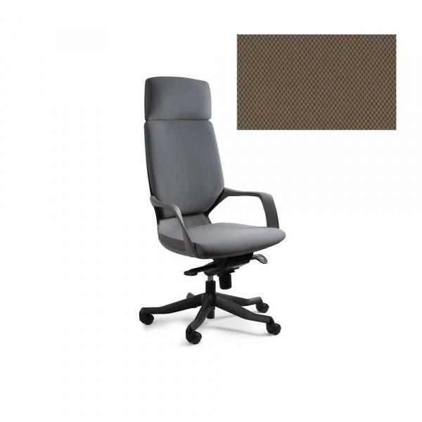 Fotel biurowy Apollo Unique taupe W-909B-BL409