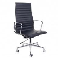 Fotel biurowy CH1191T czarna skóra/chrom
