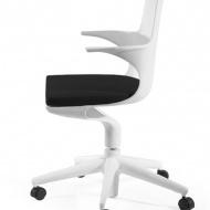 Fotel biurowy King Home Bent Roll biały