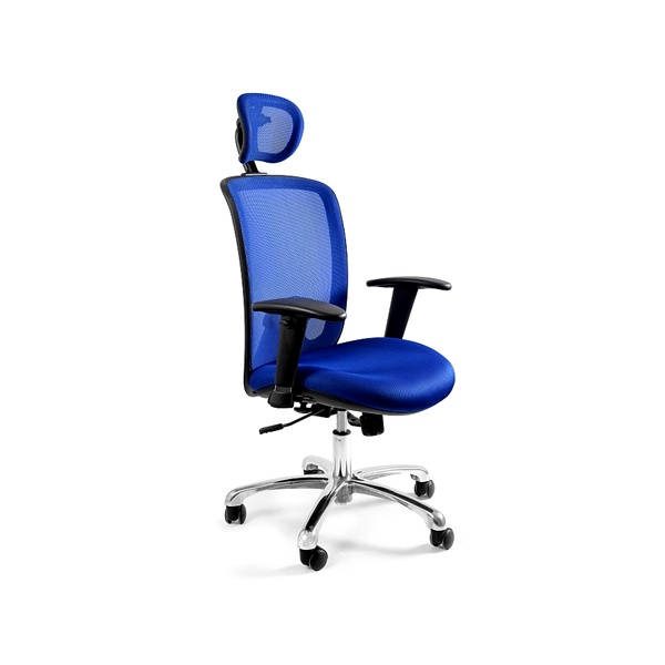 Fotel biurowy UNIQUE Expander niebieski W-94-7