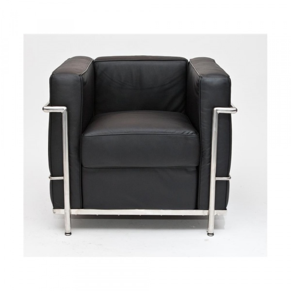 Fotel D2 Kubik czarna skóra TP DK-24983