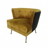 Fotel Florence Mustard Velvet