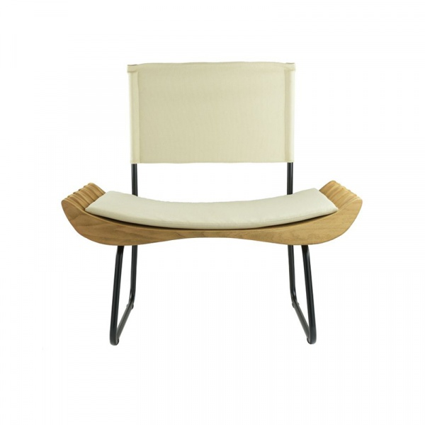 Fotel Gie El Organique biały/czarny FST0283