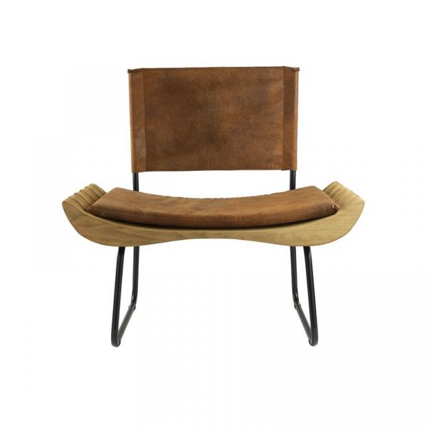 Fotel Gie El Organique brązowy/czarny FST0280