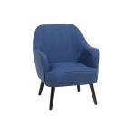 Fotel granatowy - wypoczynkowy - do salonu - tapicerowany - Bianca