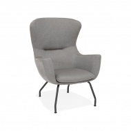 Fotel kokoon Design Korat szary