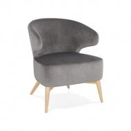 Fotel Kokoon Design Melick szary nogi naturalne