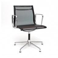 Fotel konf. CH1081T,czarna siateczka,chr