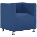 Fotel kubik, niebieski, poliester