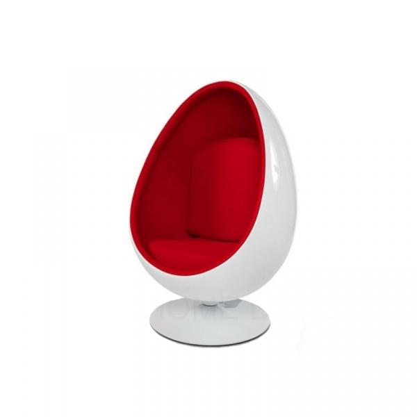 Fotel obrotowy King Bath Ovalia biało-czerwony JH-069