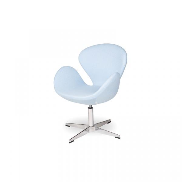 Fotel obrotowy King Bath Swan niebieski kaszmir LI-FK-911D.BLEKITNY