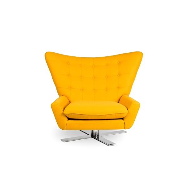Fotel obrotowy King Bath Vings żółty kaszmir CC-F-188.Z.