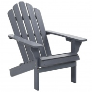 Fotel ogrodowy, drewniany, szary