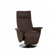 Fotel skóra ekologiczna brązowy PRIME