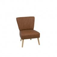 Fotel skóra ekologiczna brązowy VAASA