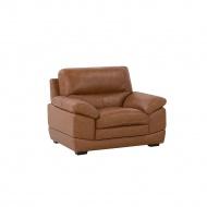 Fotel skórzany złoty brąz HORTEN